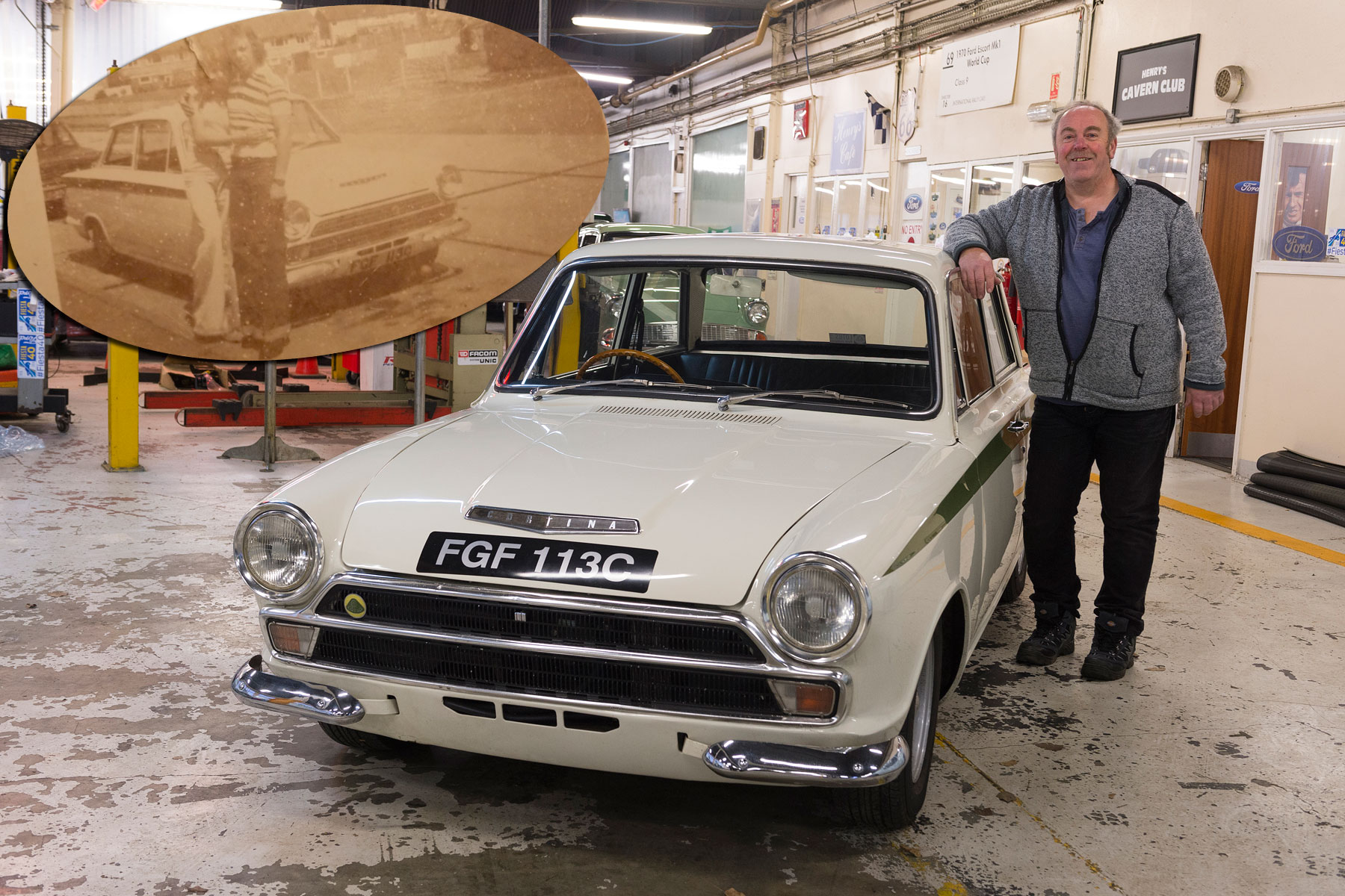 We reunite Ford Lotus Cortina TV star with its owner after 40 years