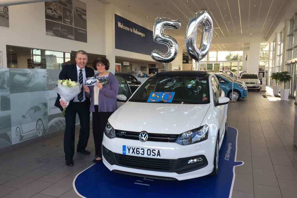 Loyal customer celebrates 50 years of owning Volkswagens