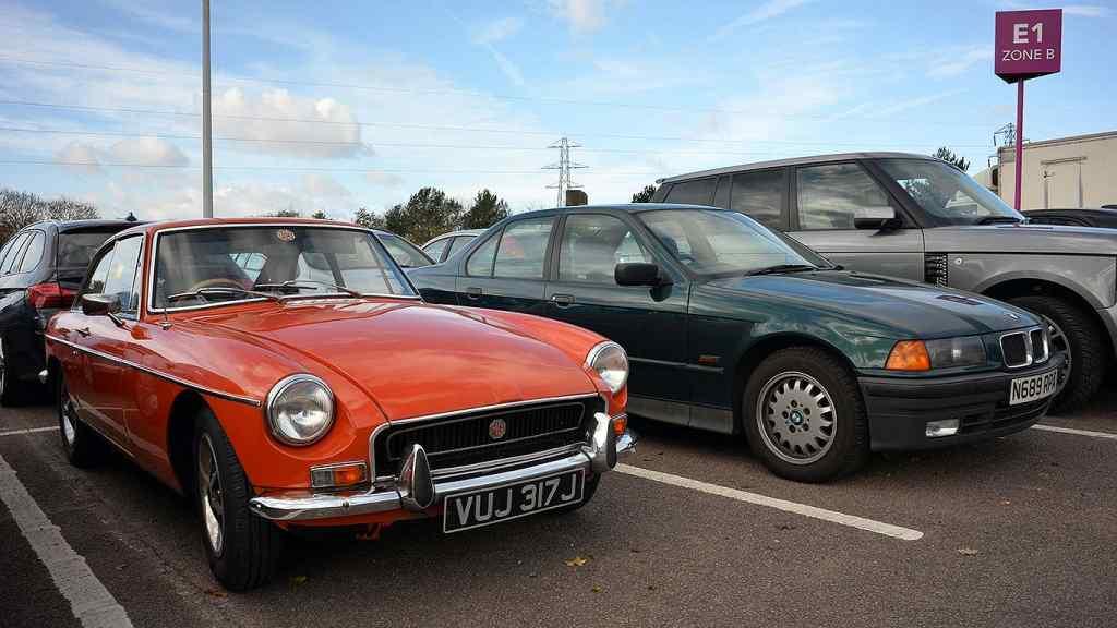 NEC Classic Motor Show car park