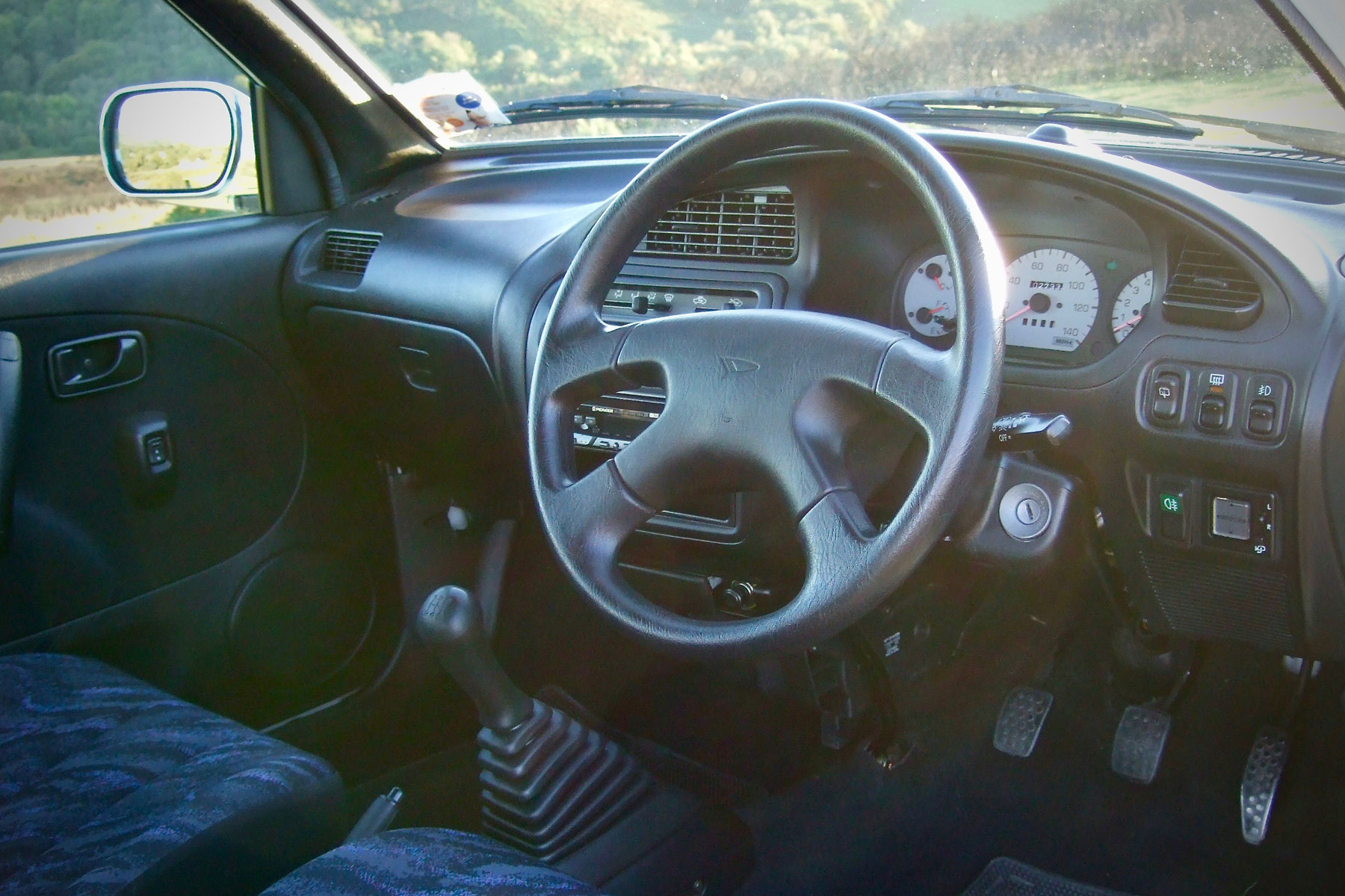 Interior of Daihatsu Cuore Avanzato