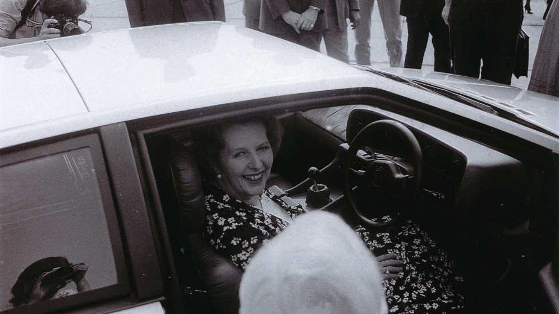 Margaret Thatcher and Lotus Turbo Esprit
