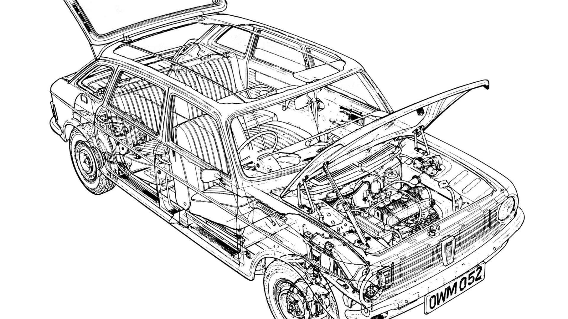Austin Maxi cutaway